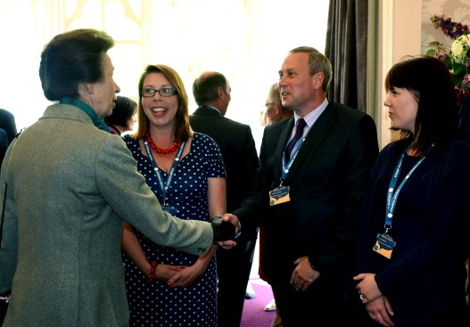 Simon Clifton, Chief Officer, meeting HRH Princess Royal